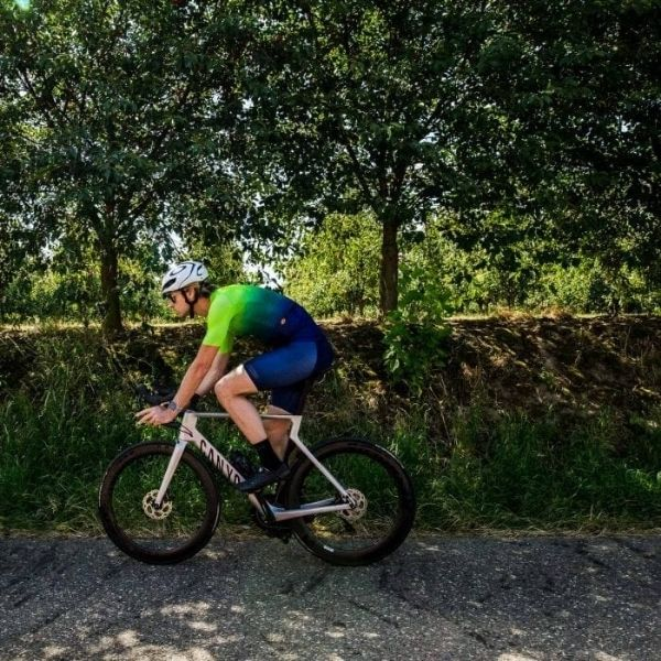 BIORACER MAILLOT SPITFIRE JUPITER SUNSET FLUO GREEN - Lastra Team Bikes