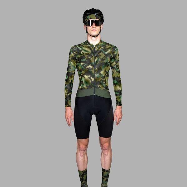 BIORACER MAILLOT EPIC CAMO21 OLIVE YELLOW - Lastra Team Bikes