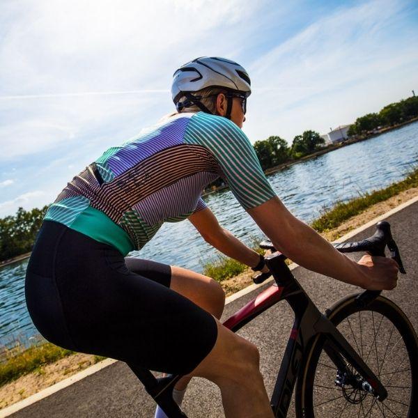 BIORACER MAILLOT EPIC KONTUR PARA MUJER GREEN PINK - Lastra Team Bikes