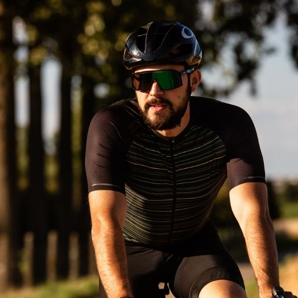 BIORACER MAILLOT SPRINTER KINGPIN COLDBLACK LIGHT YELLOW - Lastra Team Bikes