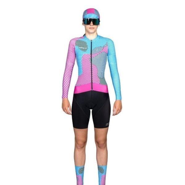 BIORACER MAILLOT EPIC KONTUR PARA MUJER PINK BLUE - Lastra Team Bikes